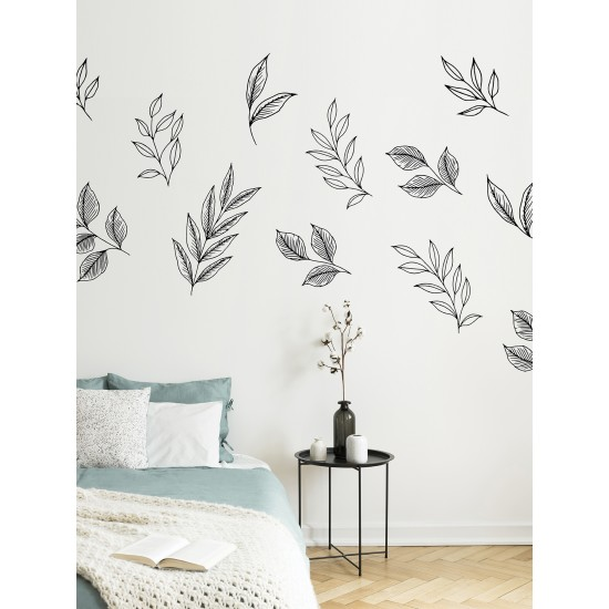 BRUSHWOOD LEAVES - Art Mural Autocollant