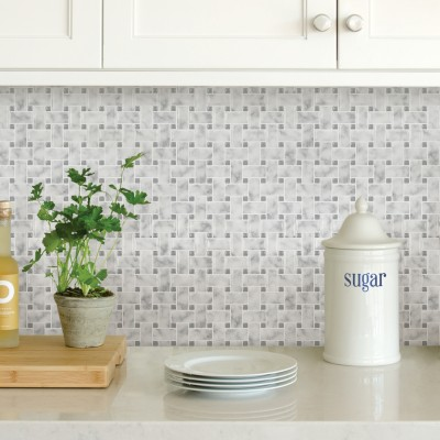 BASKETWEAVE Carrara - Dosseret-Backsplash