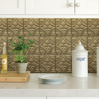 BRASS TIN TILE - Dosseret-Backsplash