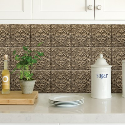 BRONZE TIN TILE - Dosseret-Backsplash