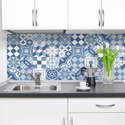 CARRELAGE BLEU - Dosseret-Backsplash