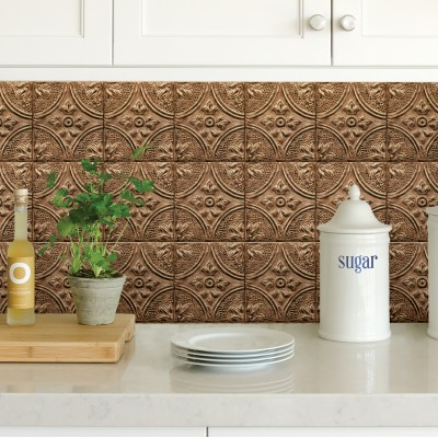 COPPER TIN TILE - Dosseret-Backsplash