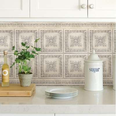 CREAM VINTAGE TIN - Dosseret-Backsplash