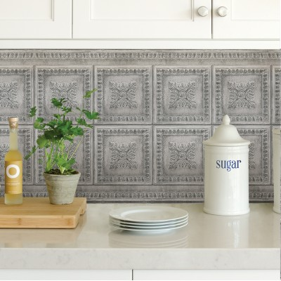 GREY VINTAGE TIN - Dosseret-Backsplash