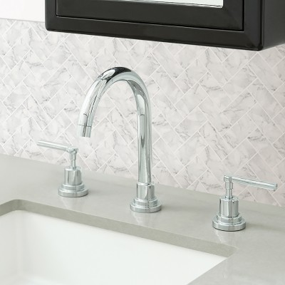MARBRE CARRARA HERRINGBONE - Dosseret-Backsplash