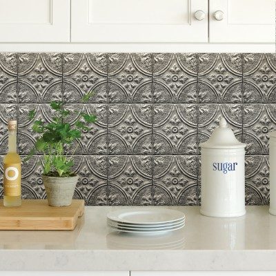 SILVER TIN TILE - Dosseret-Backsplash