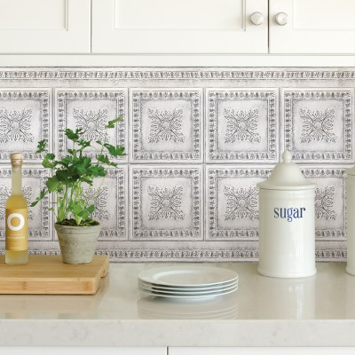 WHITE VINTAGE TIN - Dosseret-Backsplash