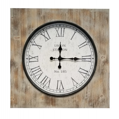 MILION Square Wood - Horloge