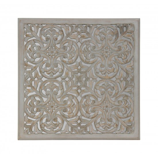ALLSTON Grey Carved Medallion - Miroir