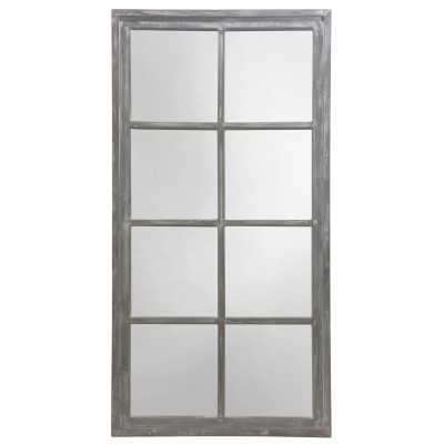 LODI Grey Windowpane Wood - Miroir
