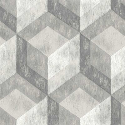 BAUHAUS WEATHERED WOOD - NuWallpaper