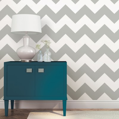 CHEVRON GRIS ZIGGY - NuWallpaper