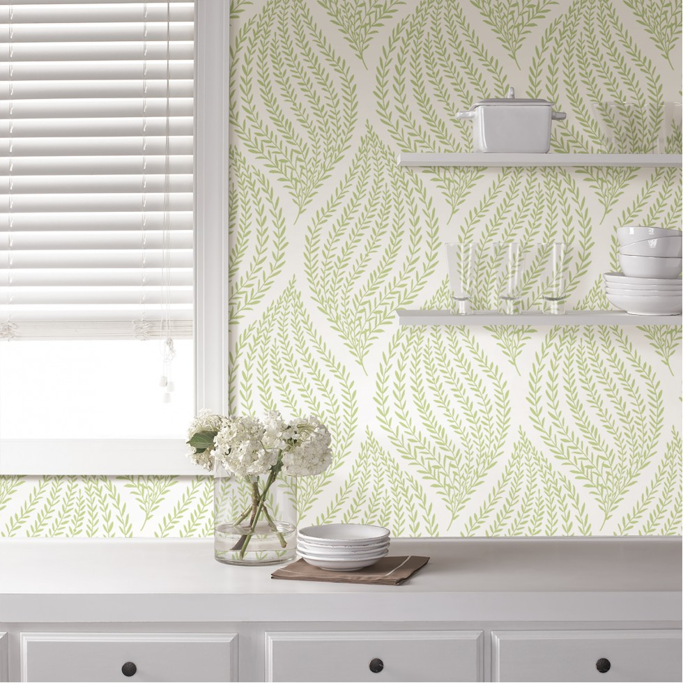 fern lime green nuwallpaper autocollant. Black Bedroom Furniture Sets. Home Design Ideas