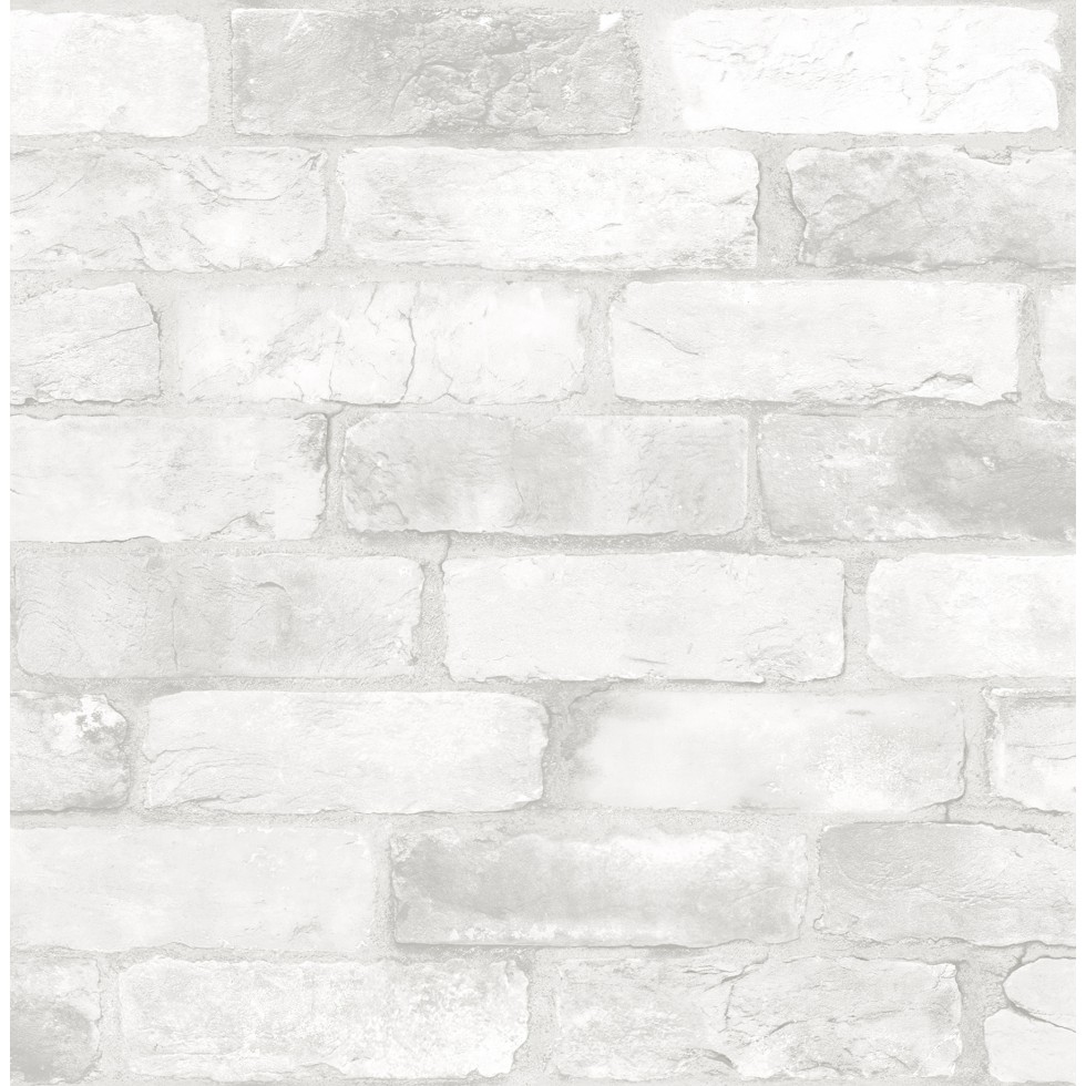 Brique Blanche loft brique blanche - nuwallpaper - autocollant - papierpeintmurale.ca