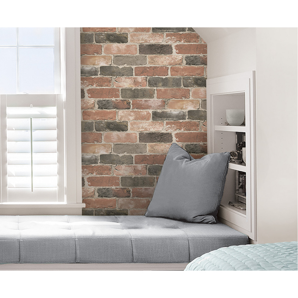 newport brick nuwallpaper autocollant. Black Bedroom Furniture Sets. Home Design Ideas