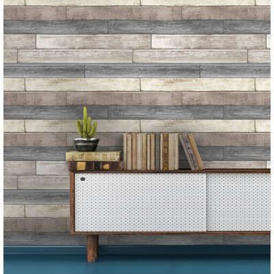 RECLAIMED WOOD PLANK - NuWallpaper