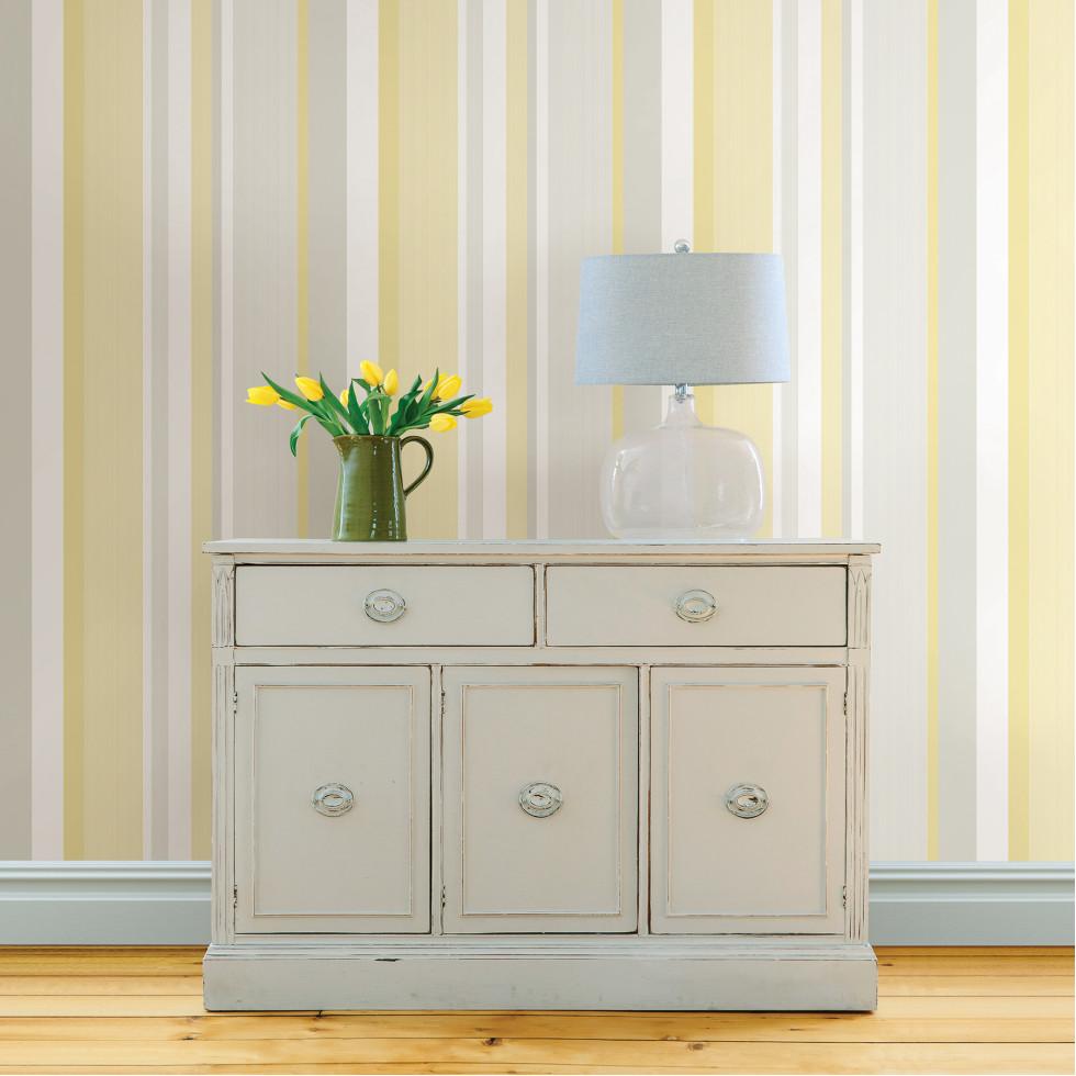 yellow awning stripe nuwallpaper autocollant. Black Bedroom Furniture Sets. Home Design Ideas