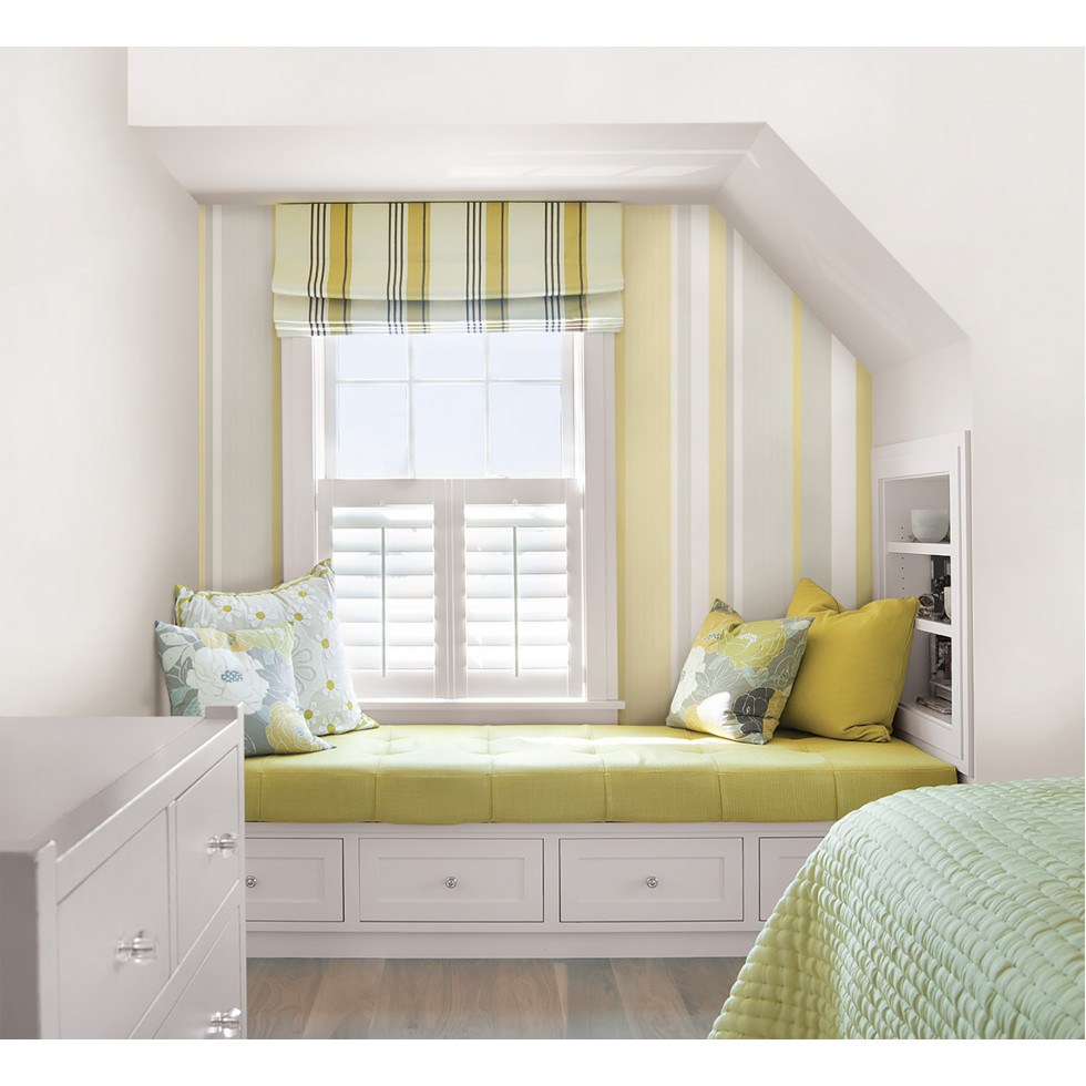 yellow awning stripe nuwallpaper autocollant. Black Bedroom Furniture Sets. Home Design Ideas