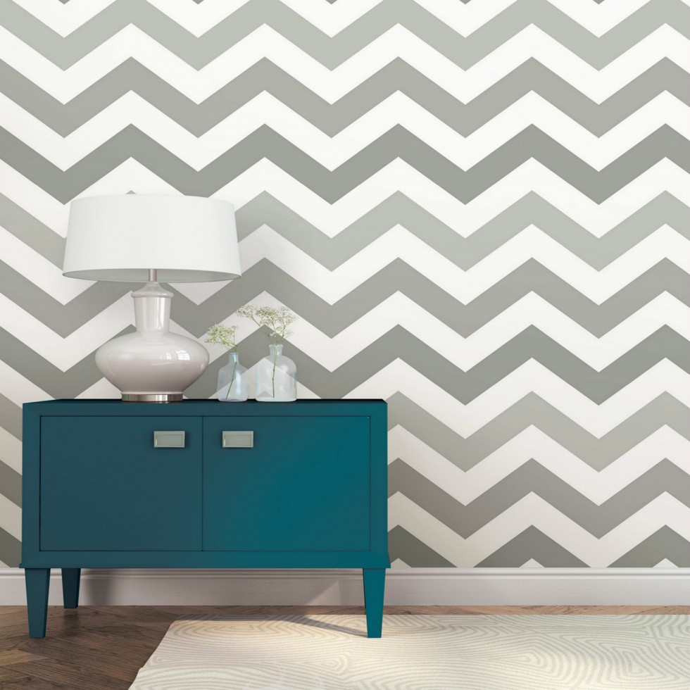 zig zag nuwallpaper autocollant. Black Bedroom Furniture Sets. Home Design Ideas