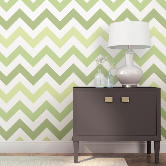 zig zag vert nuwallpaper autocollant. Black Bedroom Furniture Sets. Home Design Ideas