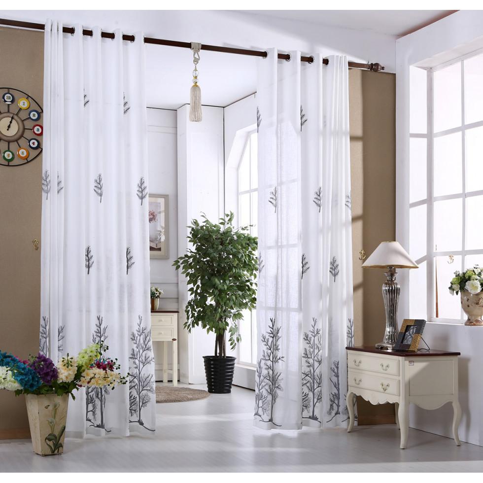 Voilage emily 01 tissus et rideau for Rideau de voilage